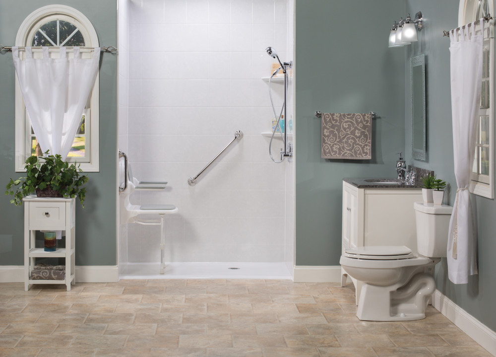 Barrier Free Shower And Handicap Showers Mansfield Bath Remodeling - Bathroom remodeling mansfield oh